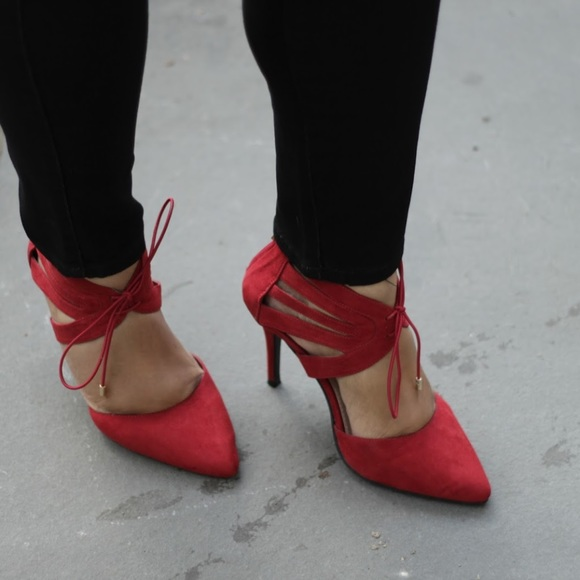 Lane Bryant Red Heels Size 9 Wide